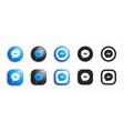 facebook messenger modern 3d and flat icons set vector image