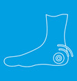 foot heel icon outline style vector image vector image