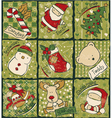 Funny Christmas patchwork elements vector image
