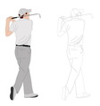 golf player 2 vector image vector image