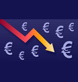 graph show value loss of euro modern trendy vector image vector image