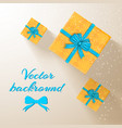 greeting invitation poster vector image vector image