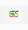 gs g s rainbow colored alphabet letter logo vector image vector image