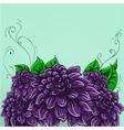 Hand-drawing floral background with flower rose vector image vector image