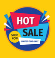 hot sale promotion banner design discount poster vector image