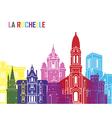 La Rochelle skyline pop vector image vector image