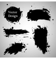 Large grunge elements set Brush strokes banners vector image vector image