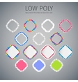 Low Poly Rounded Rhomboid Banners Set vector image vector image