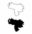 maps of venezuela vector image vector image
