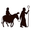 mary and joseph silhouettes vector image vector image