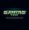 modern futuristic font for video game logo
