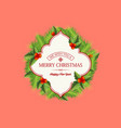natural christmas wreath template vector image vector image