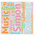 Paul Simon A Musical And Cultural Icon Returns To vector image vector image