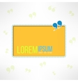 Quotation background with quote sign Yellow text vector image vector image