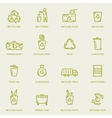 Recycling garbage icons set vector image vector image