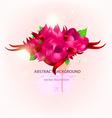 romantic floral bouquet vector image vector image