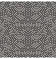 Seamless Organic Rounded Jumble Lines Retro