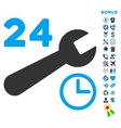 Service Hours Flat Icon with Bonus vector image vector image