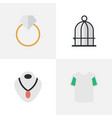 set of simple accessories vector image