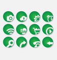 set of stylish green icons vector image vector image
