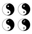 Set of ying yang symbols vector image vector image