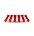 shop awning shopping striped tent for market vector image vector image