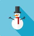 Snowman simple flat vector image