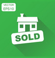 sold house icon business concept house sold vector image