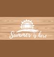 summer logo design hello summer vector image vector image