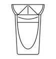 tequila glass icon outline style vector image