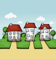 three house vector image