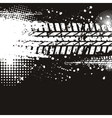 Tire track banner vector image