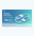 transfer money from credit card vector image vector image