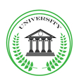university symbol vector image vector image