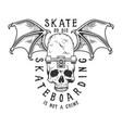 vintage monochrome sport skateboarding logotype vector image vector image