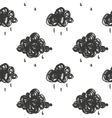 with cartoon handdrawn cloud vector image vector image