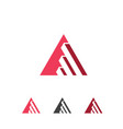 inspiring triangle business growth logo vector image