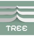 Paper Tree Symbol vector image