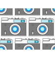 photographic camera pattern vector image
