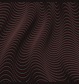 a black and red optical illusion vector image
