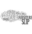 a sofa slip cover will add new life to your tired vector image vector image