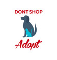 adopt logo dont shop adopt adoption concept vector image