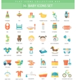 Baby color flat icon set Elegant style vector image vector image