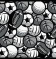 background with different sports balls seamless vector image
