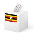 Ballot box with voting paper Uganda vector image vector image