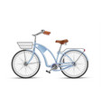 blue bicycle realistic 3d isolated vector image