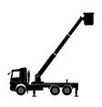 boom lift truck vector image vector image