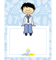 boy communion card vector image vector image