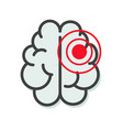 brain tumor or cancer illness icon or migraine vector image