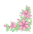 branch with flowers Drawn in graphical retro style vector image vector image